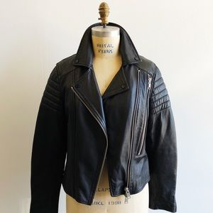 ALL SAINTS Alder Biker Leather Moto Jacket